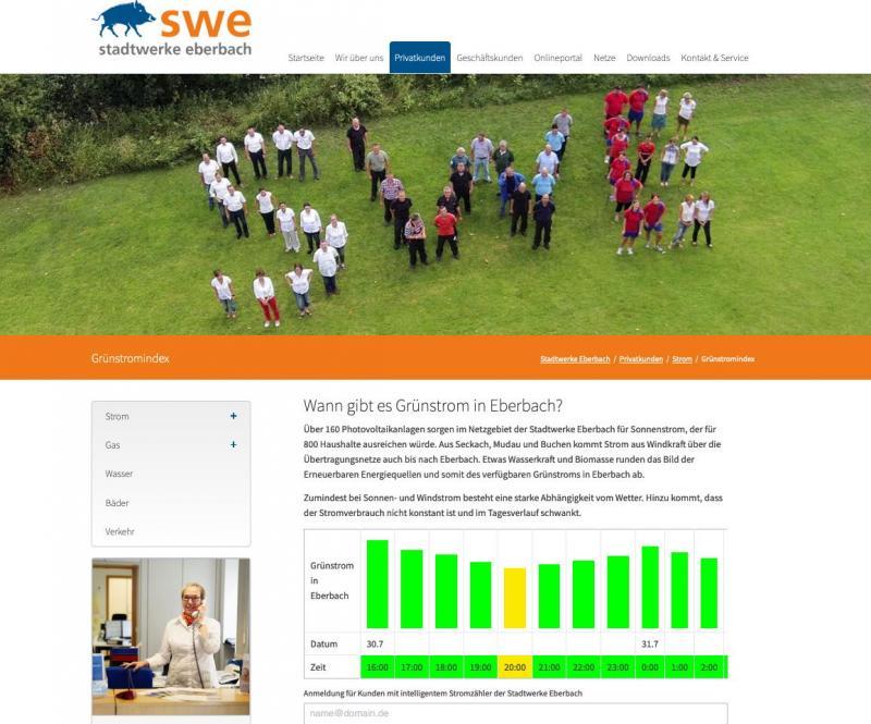 Stadtwerke Eberbach mit neuem Stromtarif für aktiven Klimaschutz durch Stromkunden