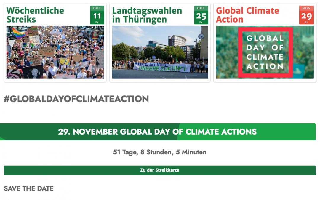 Fridays for Future kündigt nächsten Aktionstag an!