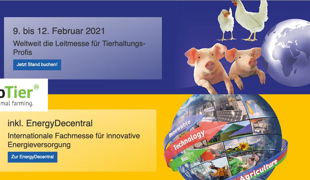 EuroTier und EnergyDecentral auf Februar 2021 verschoben!